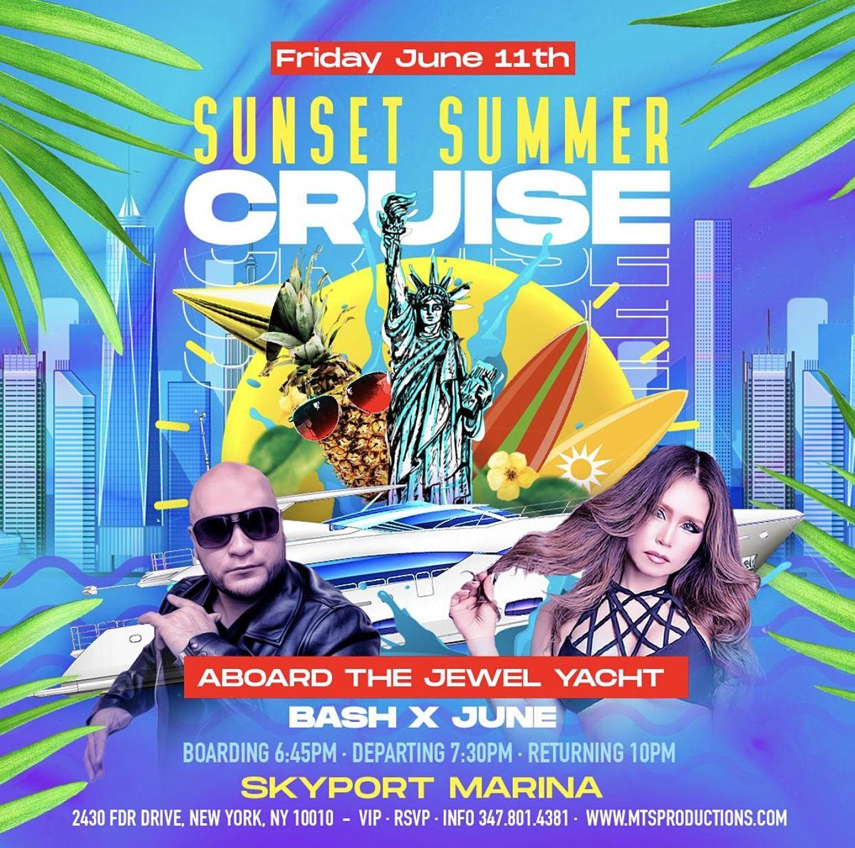Summer Sunset Cruise | NYC Party Cruise