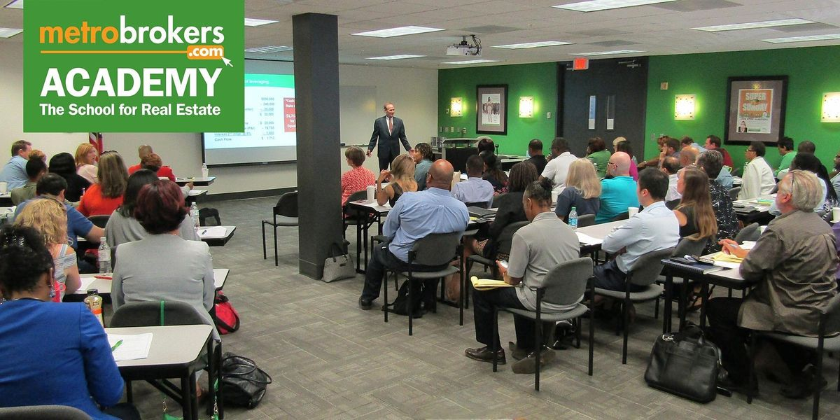 Real Estate Pre-License Course - LIVE\/In-Person Accl Class (Curtis York)