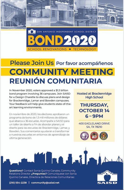 Bond 2020 Community Engagement Event