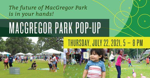 MacGregor Park Pop-Up Event