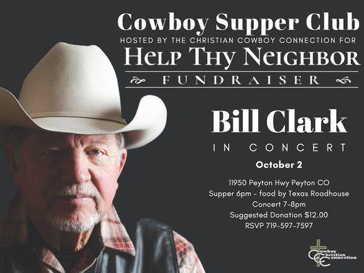 Cowboy Supper Club - Bill Clark in Concert