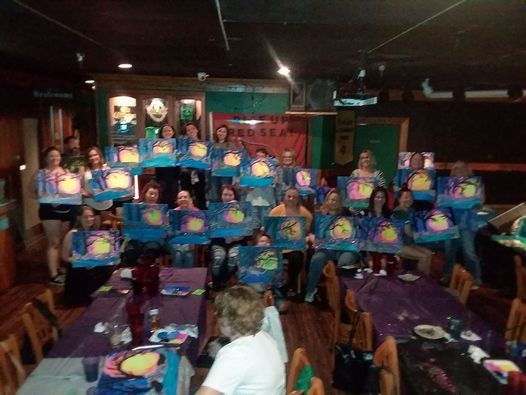 Paint night at the Dubliner