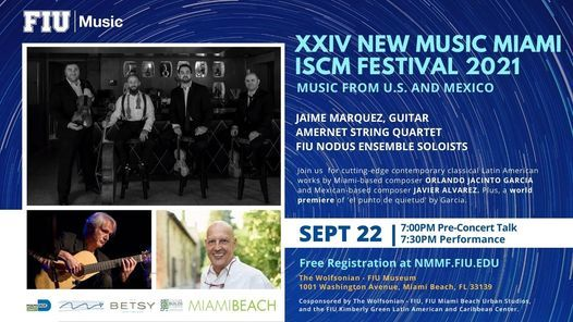 New Music Miami Festival 2021: Music from U.S. and Mexico