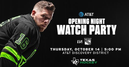 Dallas Stars AT&T Opening Night Watch Party
