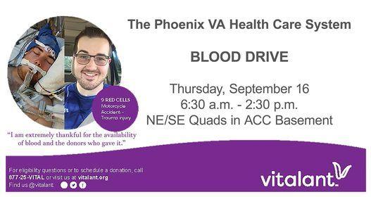 VA Sponsored Blood Drive with Vitalant