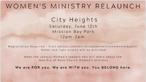 Women's Ministry Relaunch - City Heights