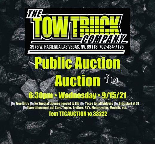 Public Auto Auction @The Tow Truck Company