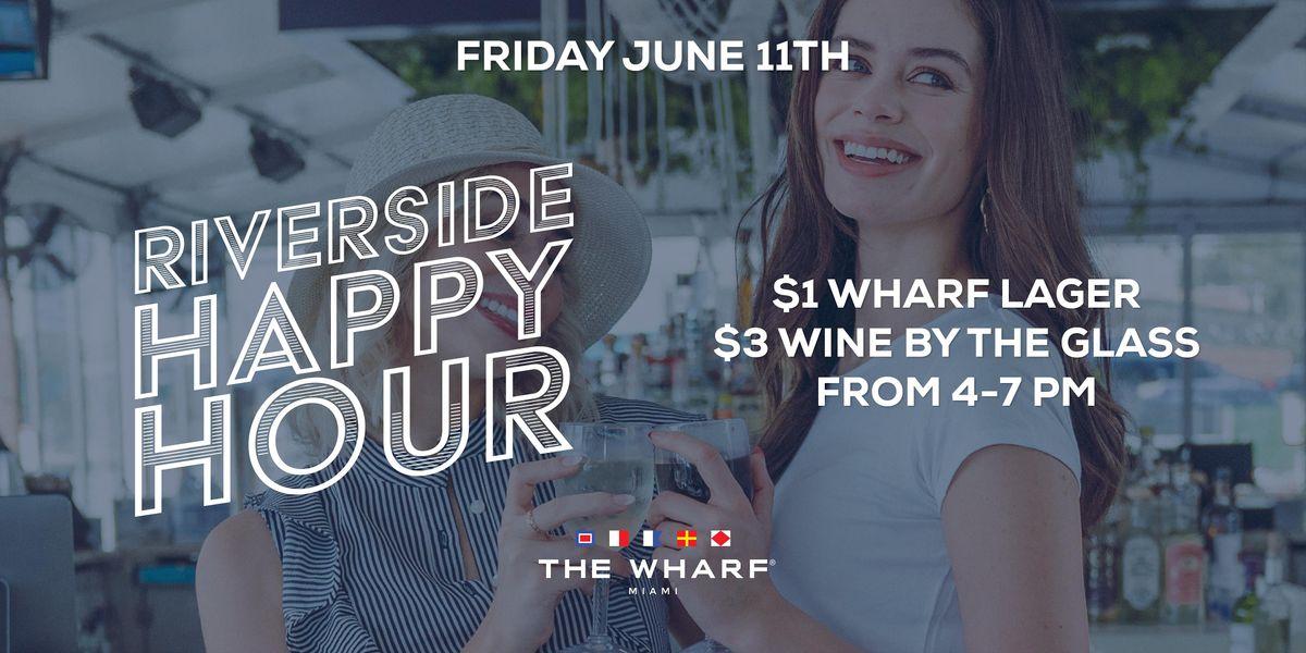 The Wharf Miami's Riverside Happy Hour