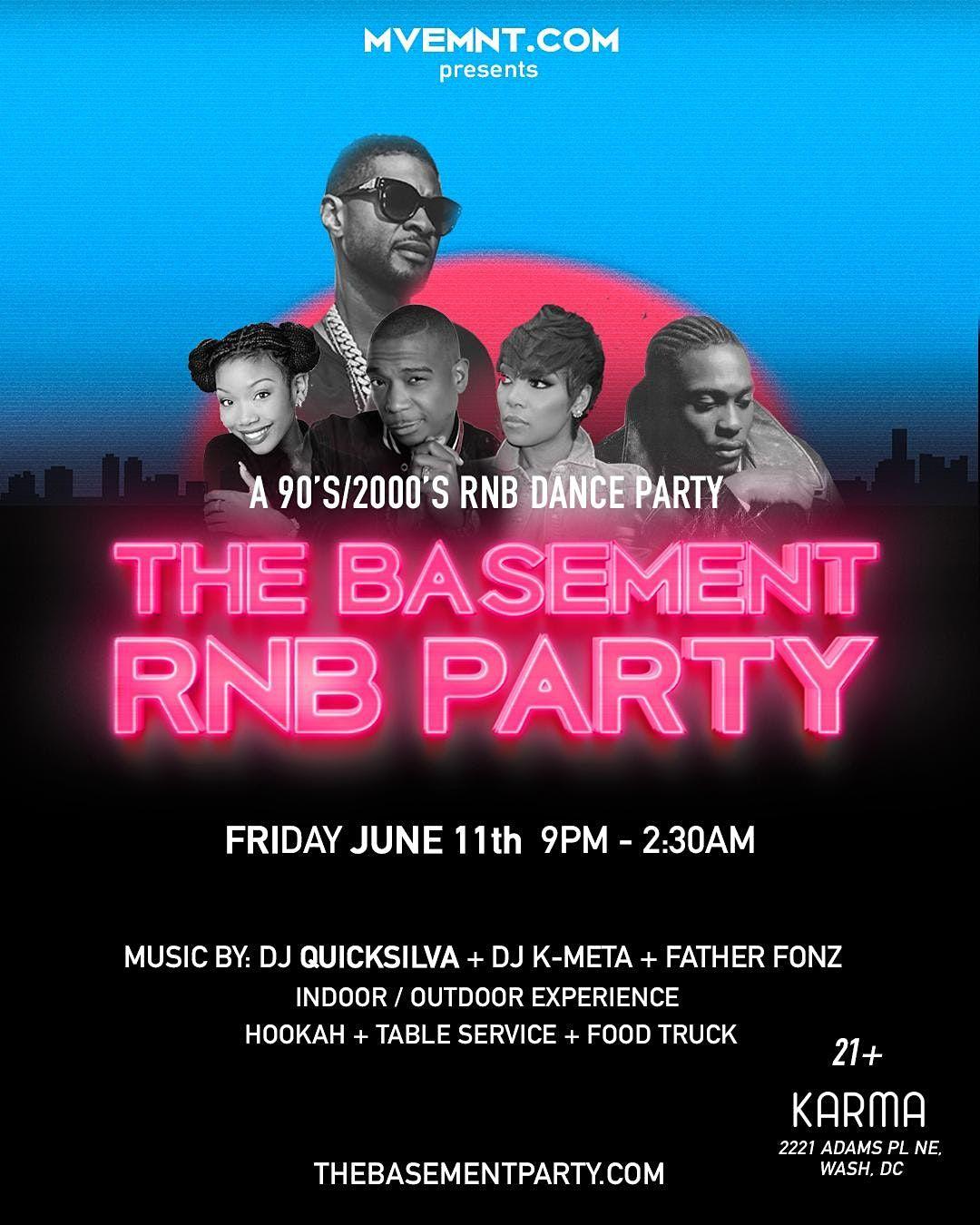 The Basement: RNB PARTY: 90s\/2000s