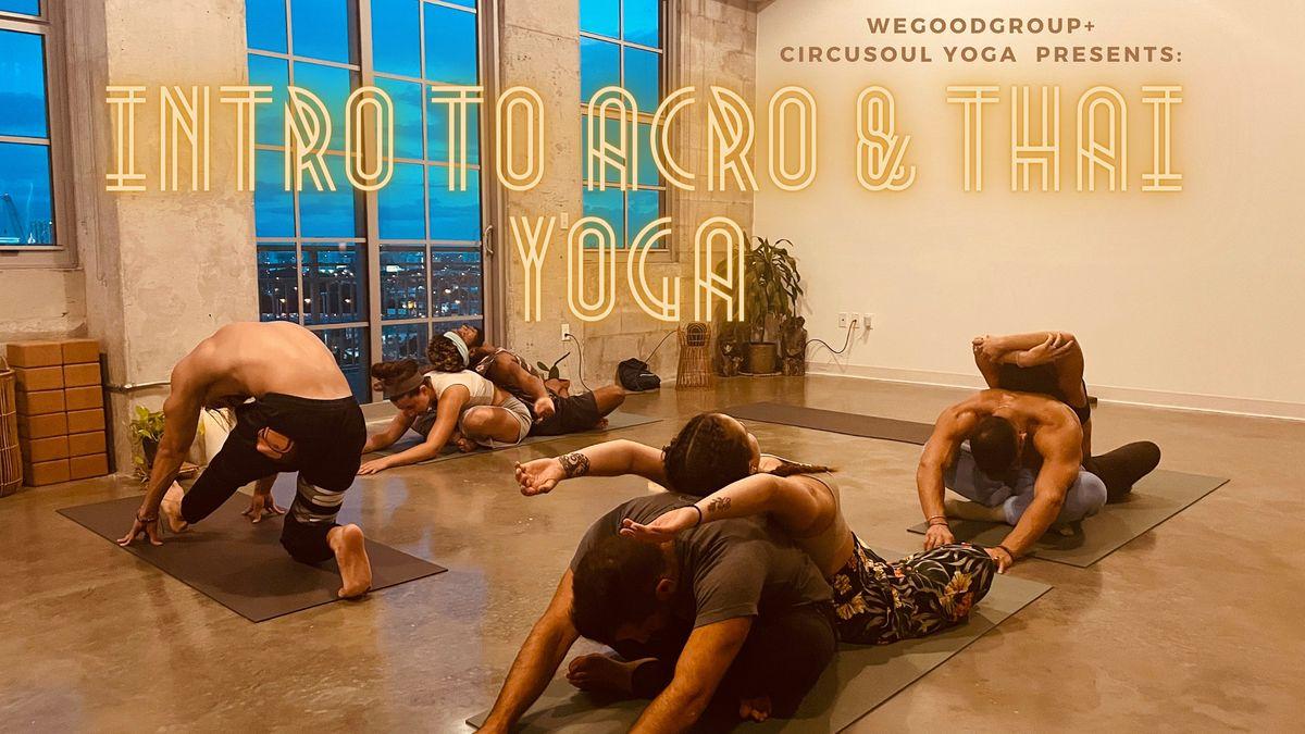Intro to Acro and Thai Yoga