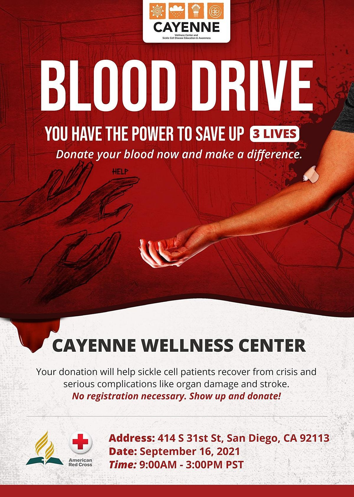 Sickle Cell Disease Awareness Blood Drive