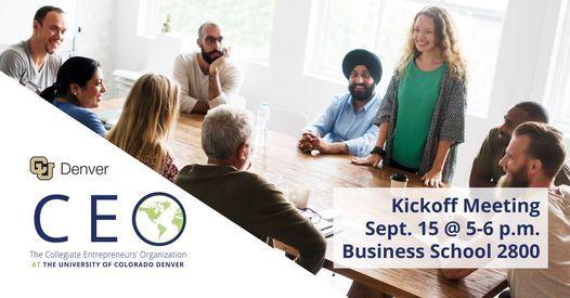 Entrepreneurship Club (CEO) Kickoff Meeting for Fall 2021