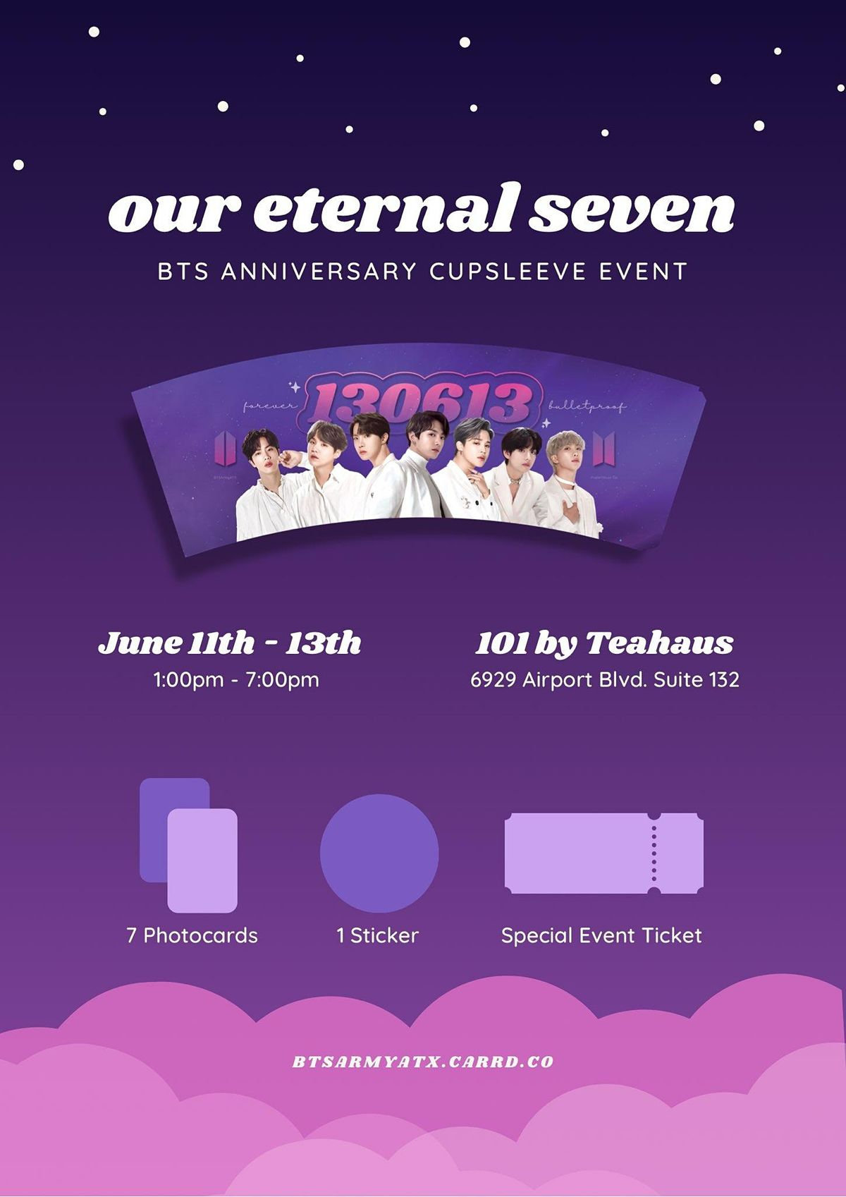 OUR ETERNAL SEVEN | BTS 8TH ANNIVERSARY CUPSLEEVE EVENT