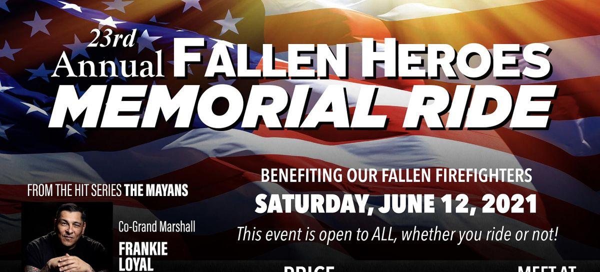 23rd ANNUAL FALLEN HEROES MEMORIAL RUN.  6\/12\/21