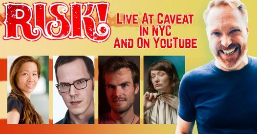 RISK! Live Show in person at Caveat in NYC and online on 9\/15\/21