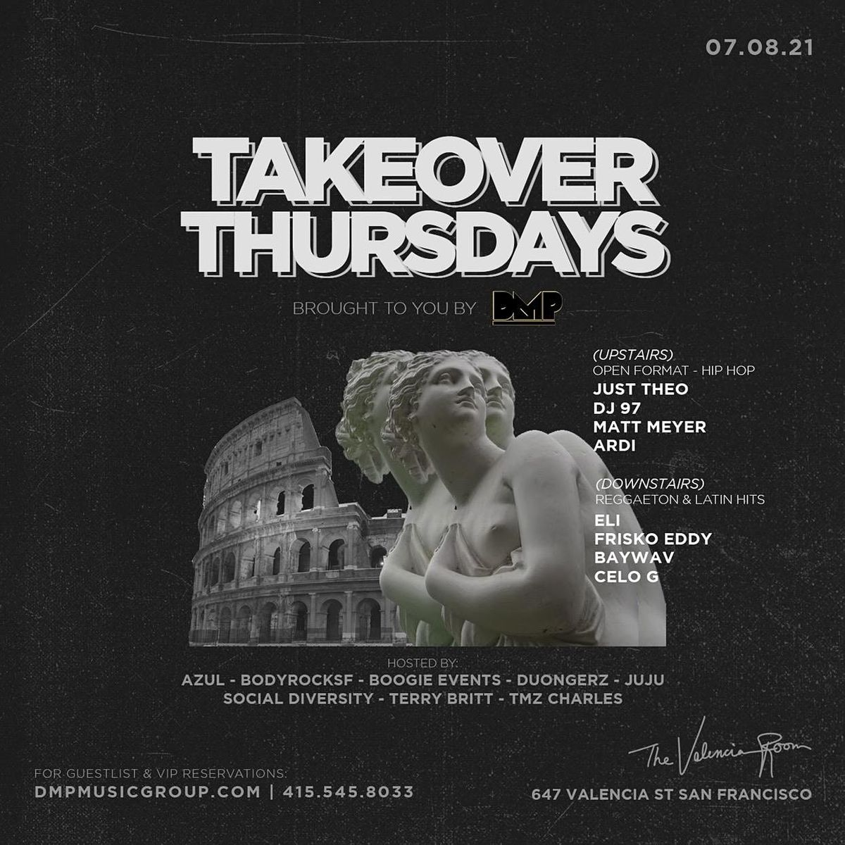 Takeover Thursdays @ The Valencia Room - 07\/22\/2021