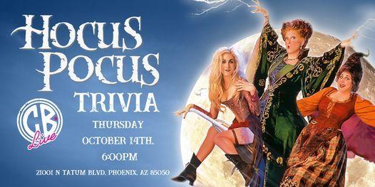 Hocus Pocus Trivia at CB Live