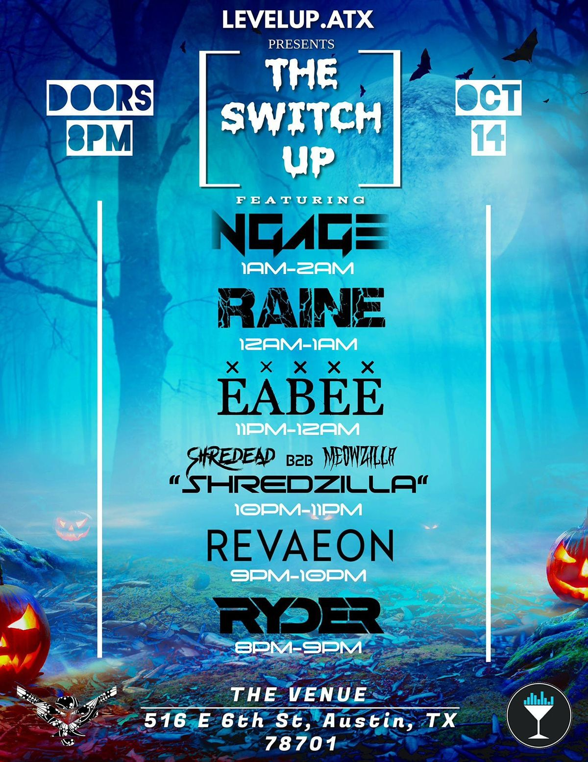 10\/14    The Venue ATX     Blacklight  Costume Special   [The SWITCH UP]