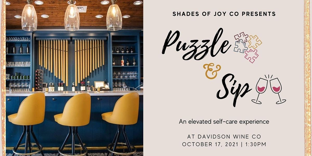 Puzzle and Sip at Davidson Wine Co