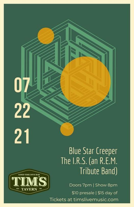 Blue Star Creeper \/\/ The I.R.S. (R.E.M. tribute band)