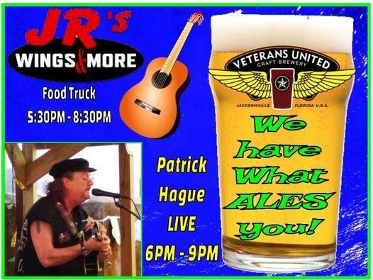 Patrick Hague LIVE  and JR's Wings & More at VU Friday July 23rd!
