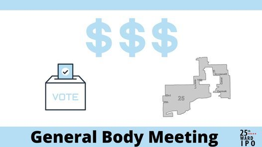 General Body Meeting: The Budget, The Remap & Elections