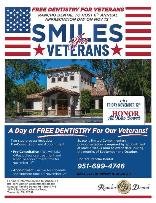 Smiles for Veterans - A day of FREE DENTISTRY for our Veterans!