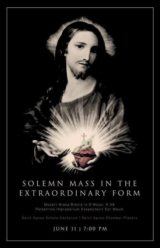 Extraordinary Form Mass for the Feast of the Sacred Heart of Jesus