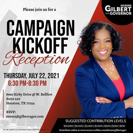 Gilbert for Governor Campaign Kickoff