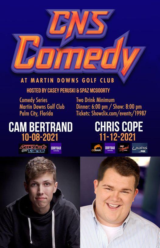 TOMORROW Casey N Spaz Dinner Comedy Palm City w\/ Cam Bertrand America's Got Talent & Dry Bar