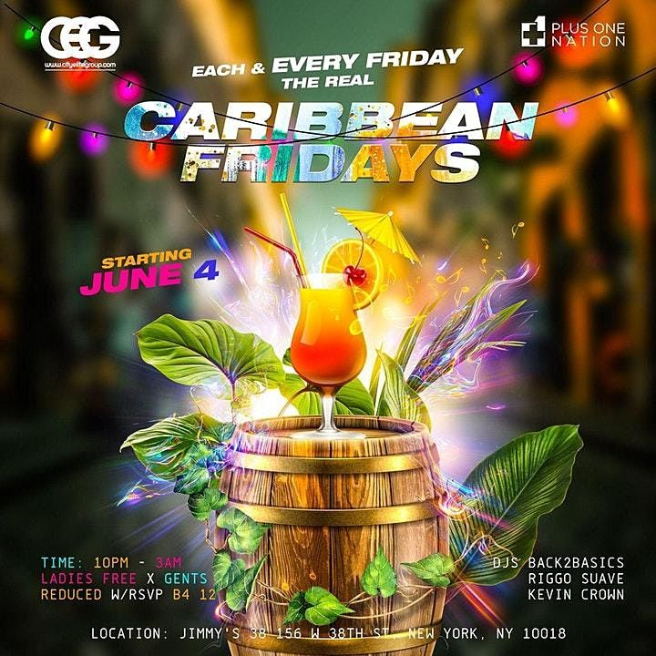 Caribbean Fridays At Jimmys With Free Rum Punch