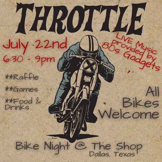 THROTTLE - Bike Night at The Shop