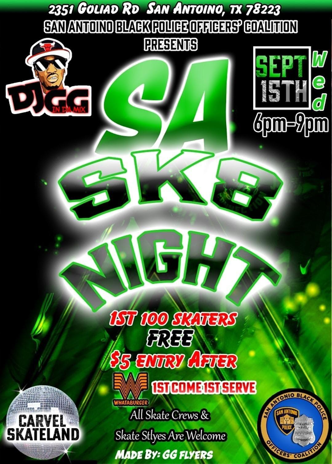SA SK8 Night by SAPBOC