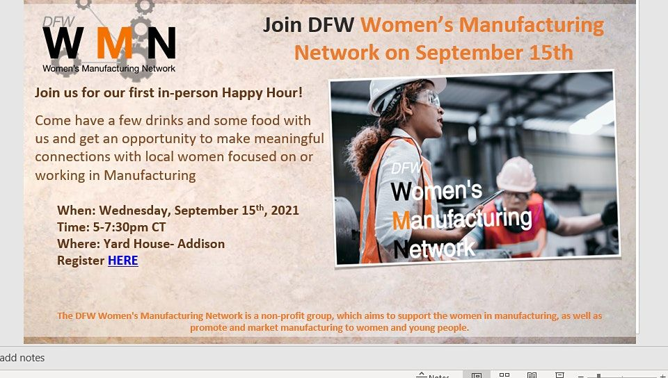 DFW Women in Manufacturing Happy Hour