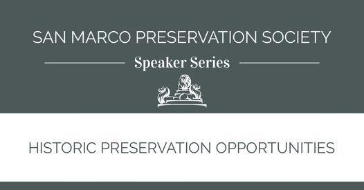 Speaker Series: Historic Preservation Opportunities
