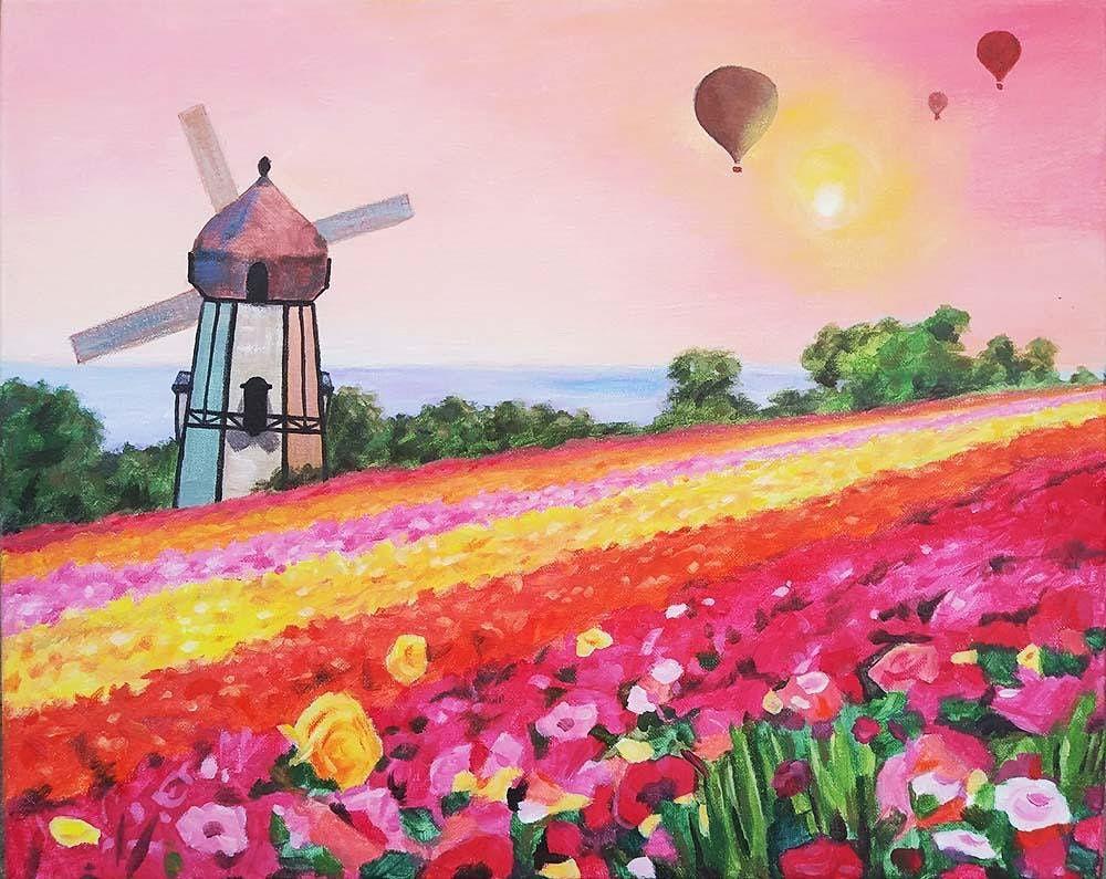 """Sip and Paint  -  """"Carlsbad Flower Fields""""  Estancia La Jolla"""