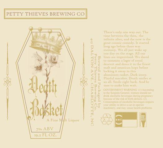 Beer release- Death Basket Malt Liquor