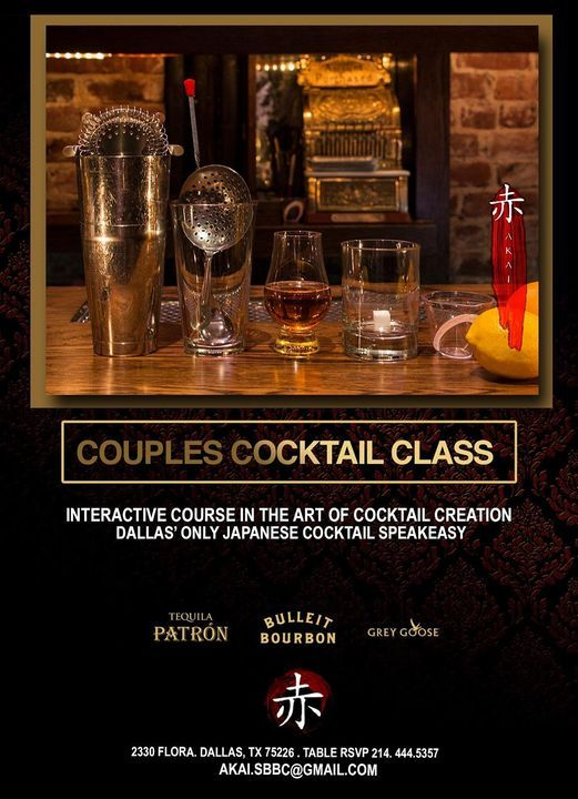 Couples Cocktail Class at AKAI
