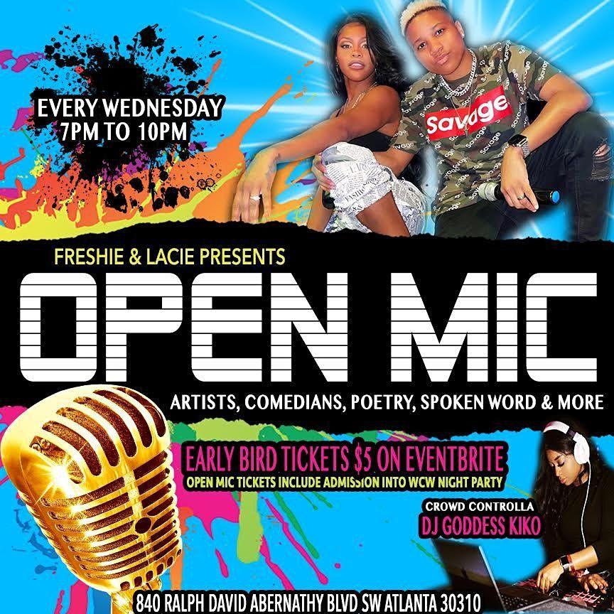 Wednesdays Open Mic Night w Freshie & Lacie