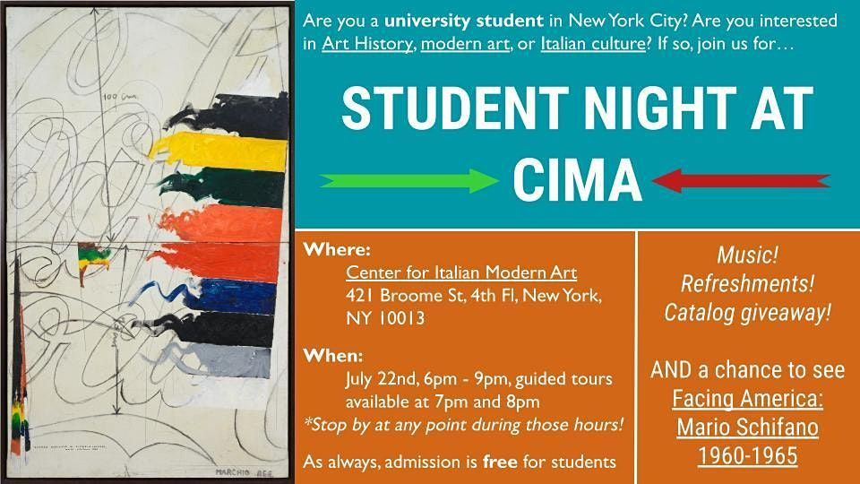 Student Night at CIMA