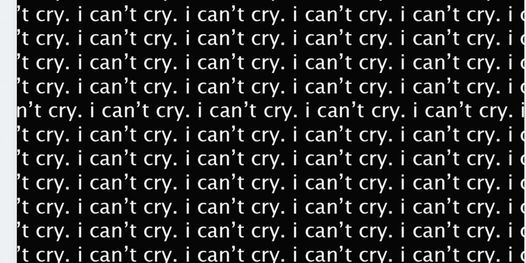 i can't cry: a listening party