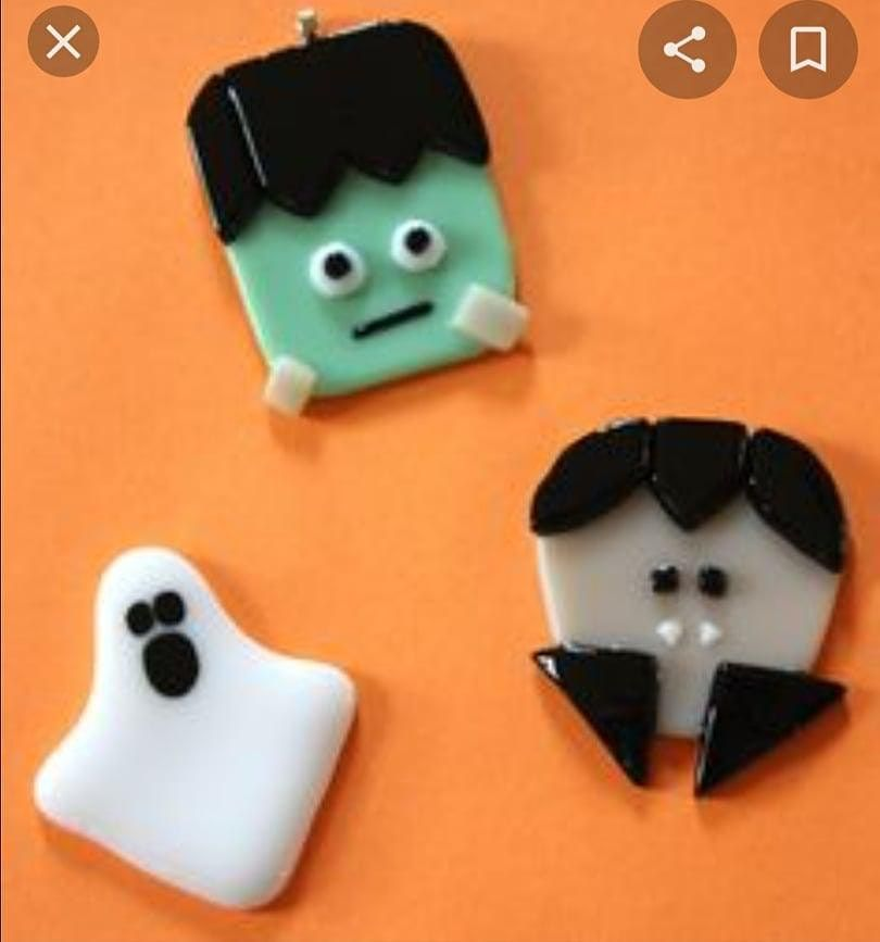 Spooky Fused Glass