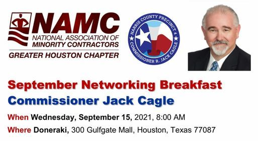 NAMC Greater Houston Chapter Networking Breakfast with Commissioner Jack Cagle