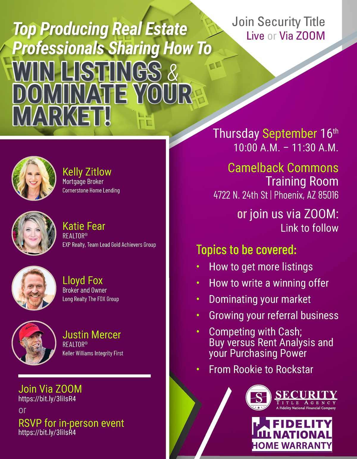 Win Listings & Dominate Your Market Panel Event