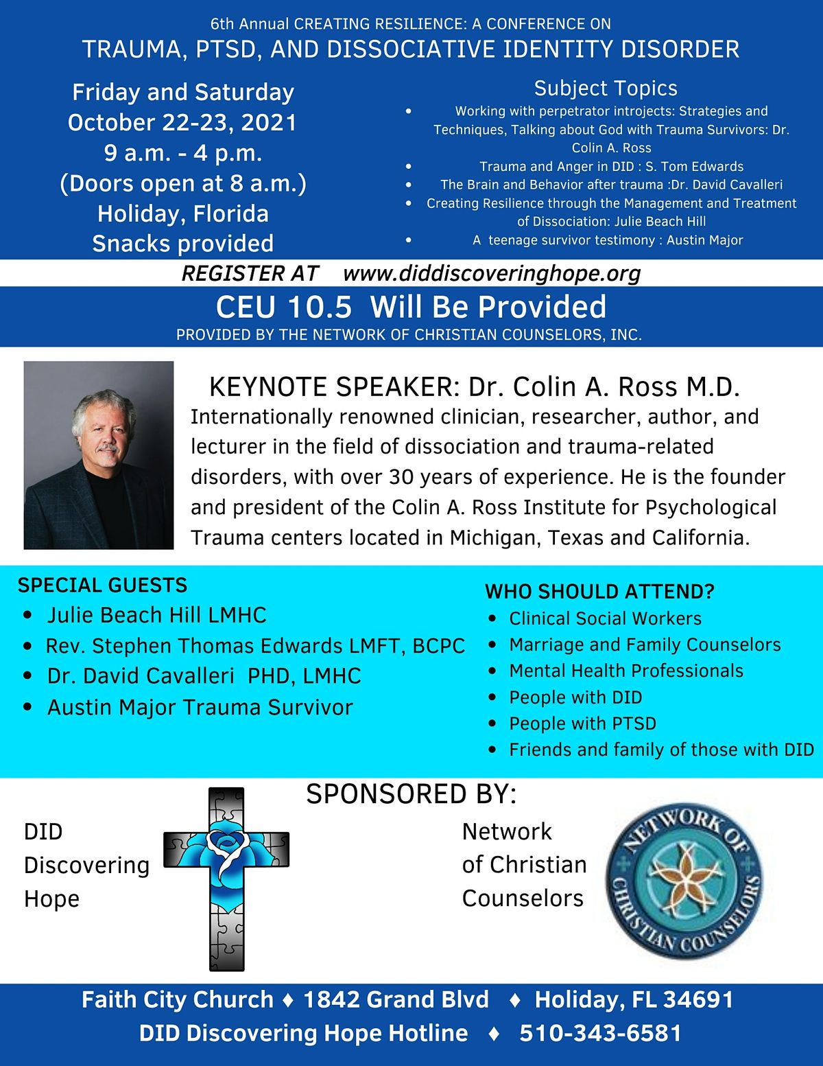 6th Annual CREATING RESILIENCE: