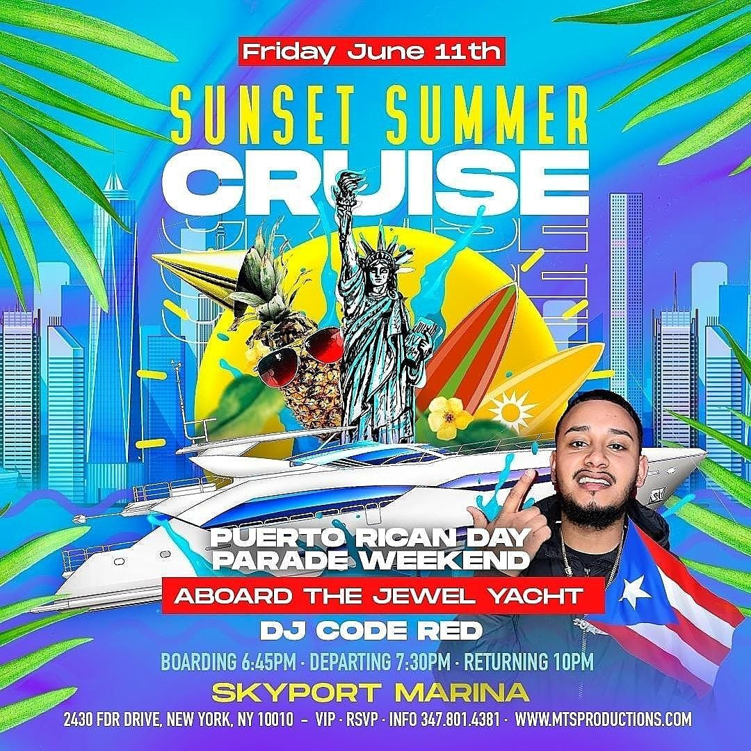 SUNSET SUMMER YACHT PARTY PUERTO RICAN DAY WEEKEND#GQEVENT