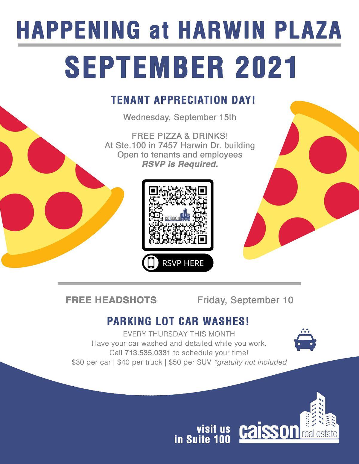 Tenant Appreciation FREE Pizza Day!