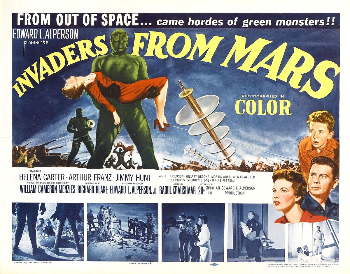 Cold War SciFy Film Series:  Invaders From Mars