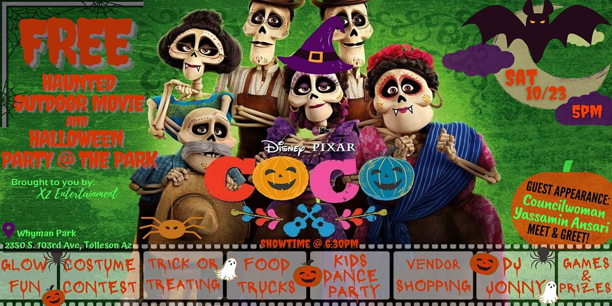 A FREE Haunted Outdoor Movie & Halloween Party @ t