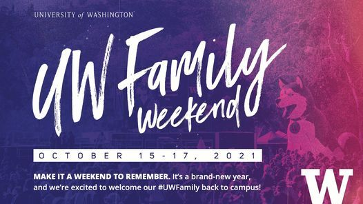 UW Family Weekend 2021 \u2014 SOLD OUT